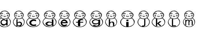 AEZ snowman Font UPPERCASE