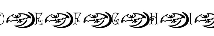 AEZ spooky Font UPPERCASE