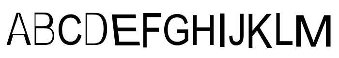 AEZ steeple Font UPPERCASE