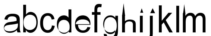 AEZ steeple Font LOWERCASE