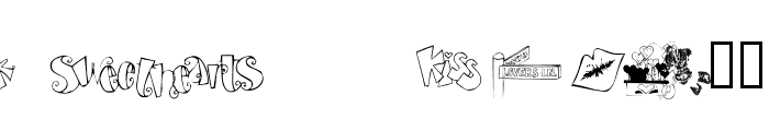 AEZ sweethearts Font LOWERCASE