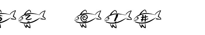 AEZ swim away Font OTHER CHARS