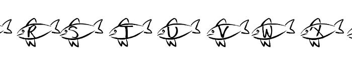 AEZ swim away Font UPPERCASE
