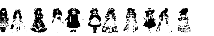AEZ toy dolls Font LOWERCASE