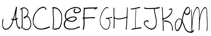 AEZAnastaciaHW Font UPPERCASE