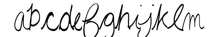 AEZAnastaciaHW Font LOWERCASE