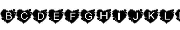AEZbighearts Font UPPERCASE