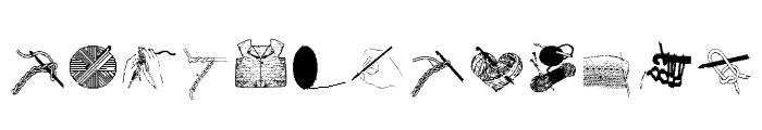 AEZcrochet Font LOWERCASE