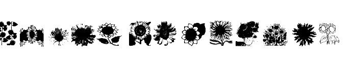 AEZsunflowers Font UPPERCASE