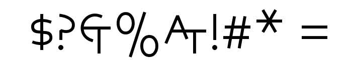 Aegean Font OTHER CHARS