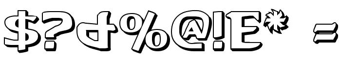 Aegis 3D Font OTHER CHARS