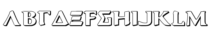 Aegis 3D Font LOWERCASE