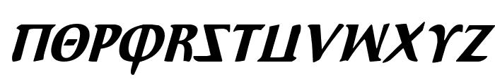 Aegis Condensed Italic Font UPPERCASE