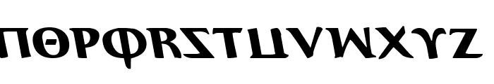 Aegis Leftalic Font UPPERCASE
