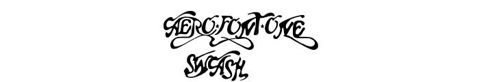 Aero Font One Swash Font UPPERCASE