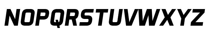 Aero Matics Display Bold Italic Font UPPERCASE