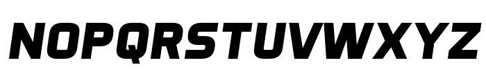 Aero Matics Display Bold Italic Font LOWERCASE