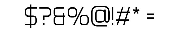 Aero Matics Display Light Regular Font OTHER CHARS