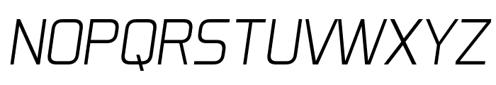 Aero Matics Light Italic Font UPPERCASE