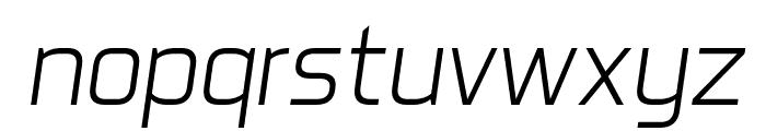 Aero Matics Light Italic Font LOWERCASE