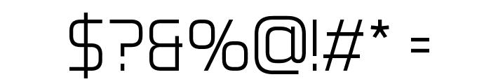 Aero Matics Light Regular Font OTHER CHARS