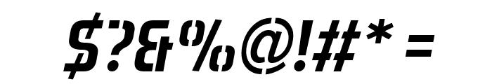 Aero Matics Stencil Italic Font OTHER CHARS