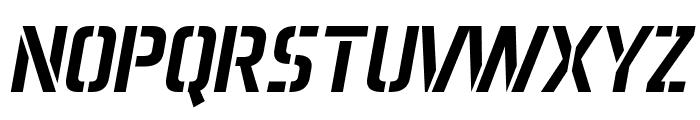 Aero Matics Stencil Italic Font UPPERCASE