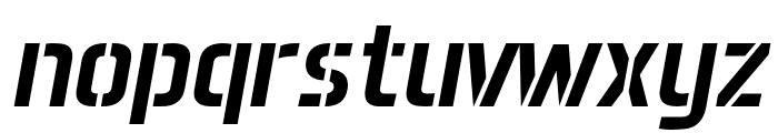 Aero Matics Stencil Italic Font LOWERCASE