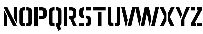 Aero Matics Stencil Regular Font UPPERCASE