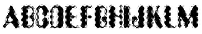Aerobus Dotty Font UPPERCASE