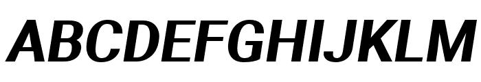 Aerodynamic Bold Oblique Font UPPERCASE