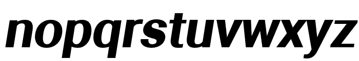 Aerodynamic Bold Oblique Font LOWERCASE