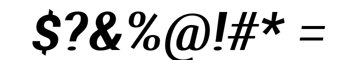 Aerodynamic Oblique Font OTHER CHARS
