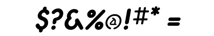 Aerolite Bold Italic Font OTHER CHARS