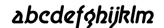 Aerolite Bold Italic Font LOWERCASE