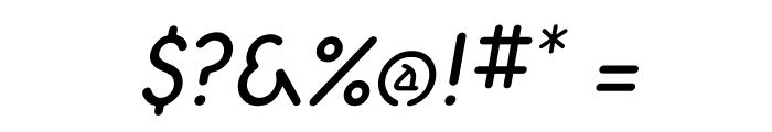 Aerolite Italic Font OTHER CHARS
