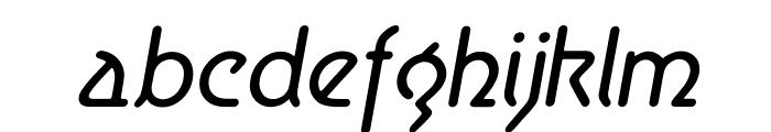 Aerolite Italic Font LOWERCASE