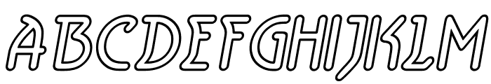 Aerolite Sky Italic Font UPPERCASE