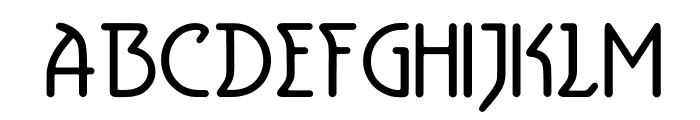 Aerolite Font UPPERCASE
