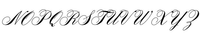 AeroliteScriptCP2 Font UPPERCASE
