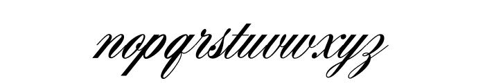 AeroliteScriptCP2 Font LOWERCASE