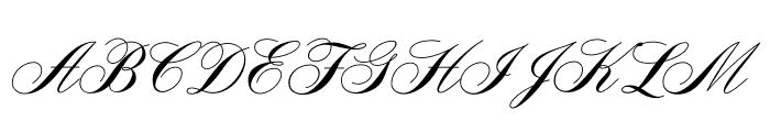 AeroliteScriptCP Font UPPERCASE