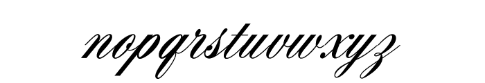 AeroliteScriptCP Font LOWERCASE
