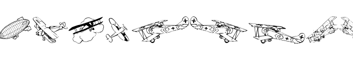 Aeroplanes Font LOWERCASE