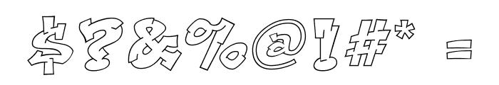 Aerosol Font OTHER CHARS