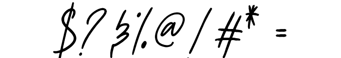 Aesthetik Script Font OTHER CHARS
