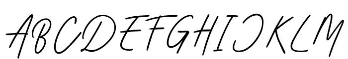Aesthetik Script Font UPPERCASE