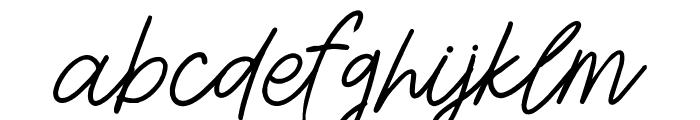 Aesthetik Script Font LOWERCASE