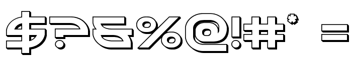 Aetherfox 3D Font OTHER CHARS