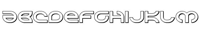 Aetherfox 3D Font LOWERCASE